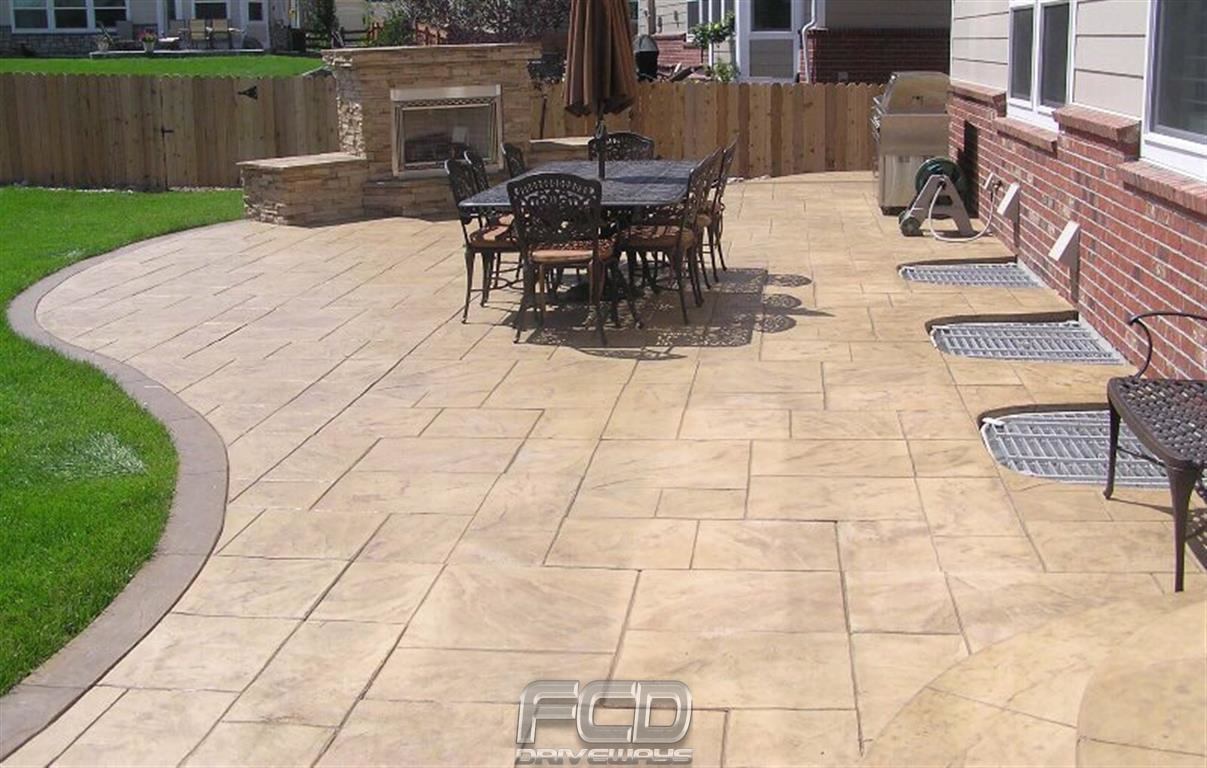 Imprinted Concrete Driveway Amp Patio Gallery In Stockport
