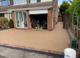 Resin Bound Driveway with Block Paving Border in Ramsbottom, Manchester