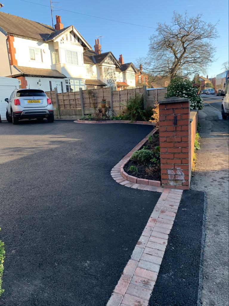 Tarmac Driveway with Block Paving Border in Bromley