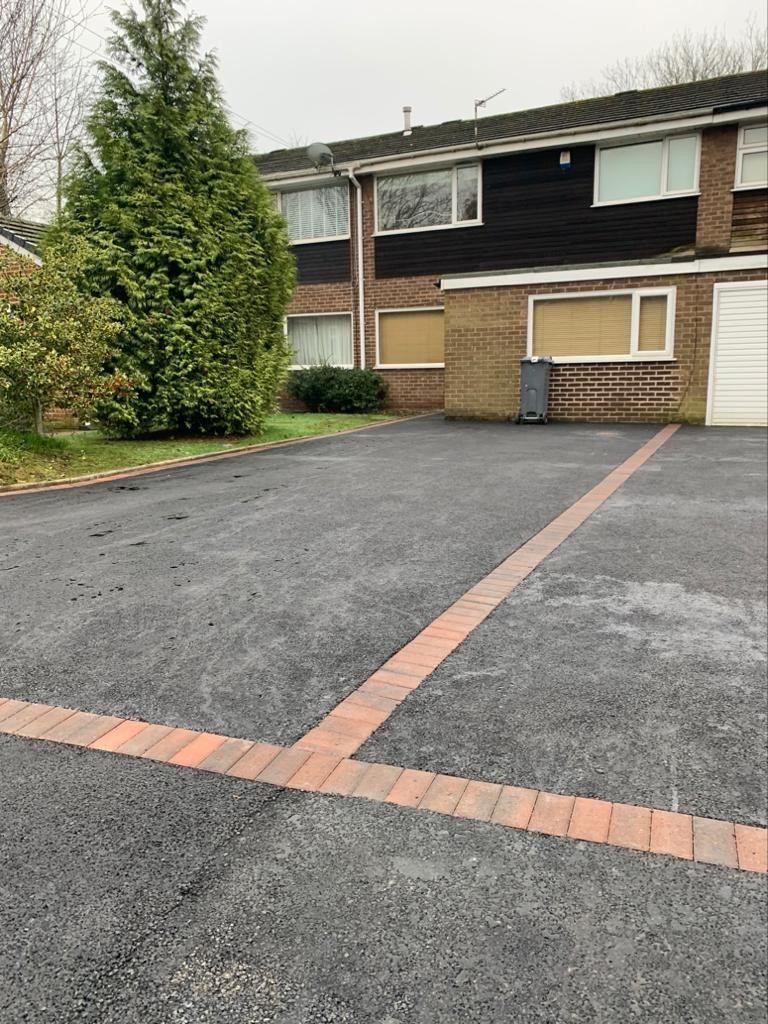 Tarmac Driveway with Brindle Border in Burnage, Manchester