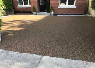 Resin Bound Driveway with Granite Edging in Stockport