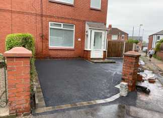 Tarmac Driveway with a Paved Border in Oldham