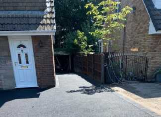 Double Tarmac Driveway Extension in Bury